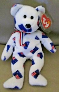 Ty Beanie Babies - Aotearoa New Zealand Flag Bears - MWMTs and Tag protector.