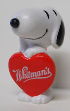 1990's Whitman's Chocolate Peanuts Heart Box Snoopy PVC Figure Cake Topper