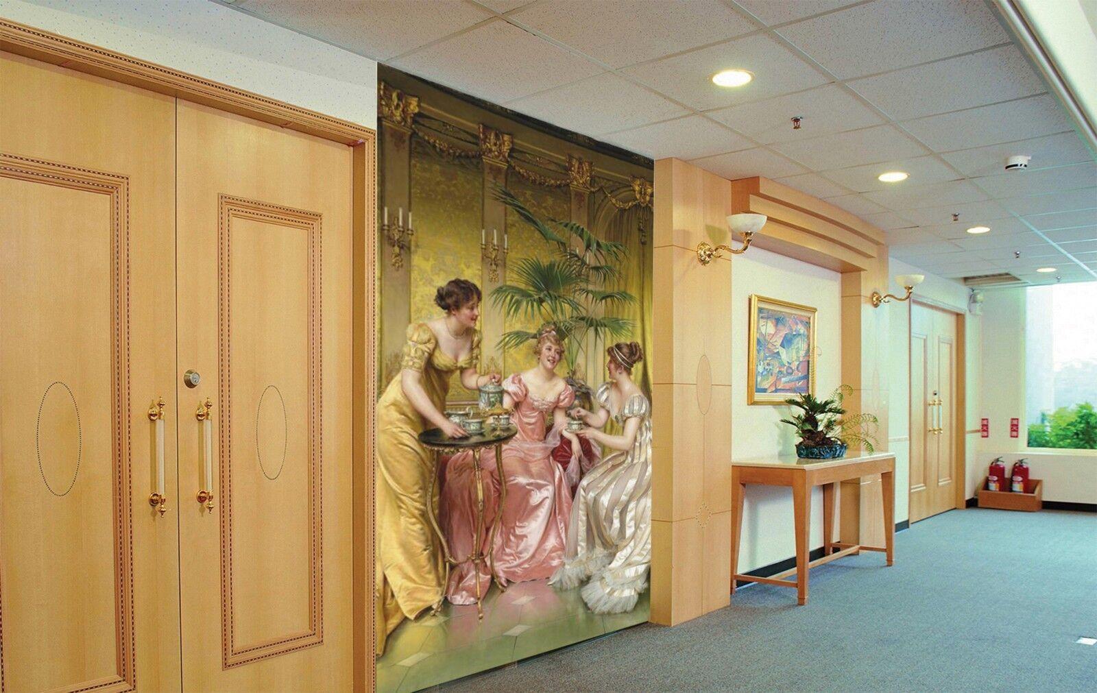 3D Mädchen Malerei 788 Tapete Wandgemälde Tapete Tapeten Bild Familie DE Lemon