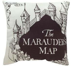 Harry-Potter-The-Marauders-Map-Square-Shaped-Filled-Printed-Cushion-Brand-New