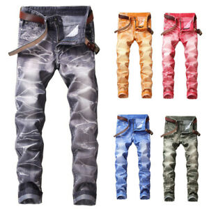 Mens-Straight-Biker-Denim-Jeans-Pants-Trousers-Stretch-Skinny-Men-Slim-Fit-Jeans