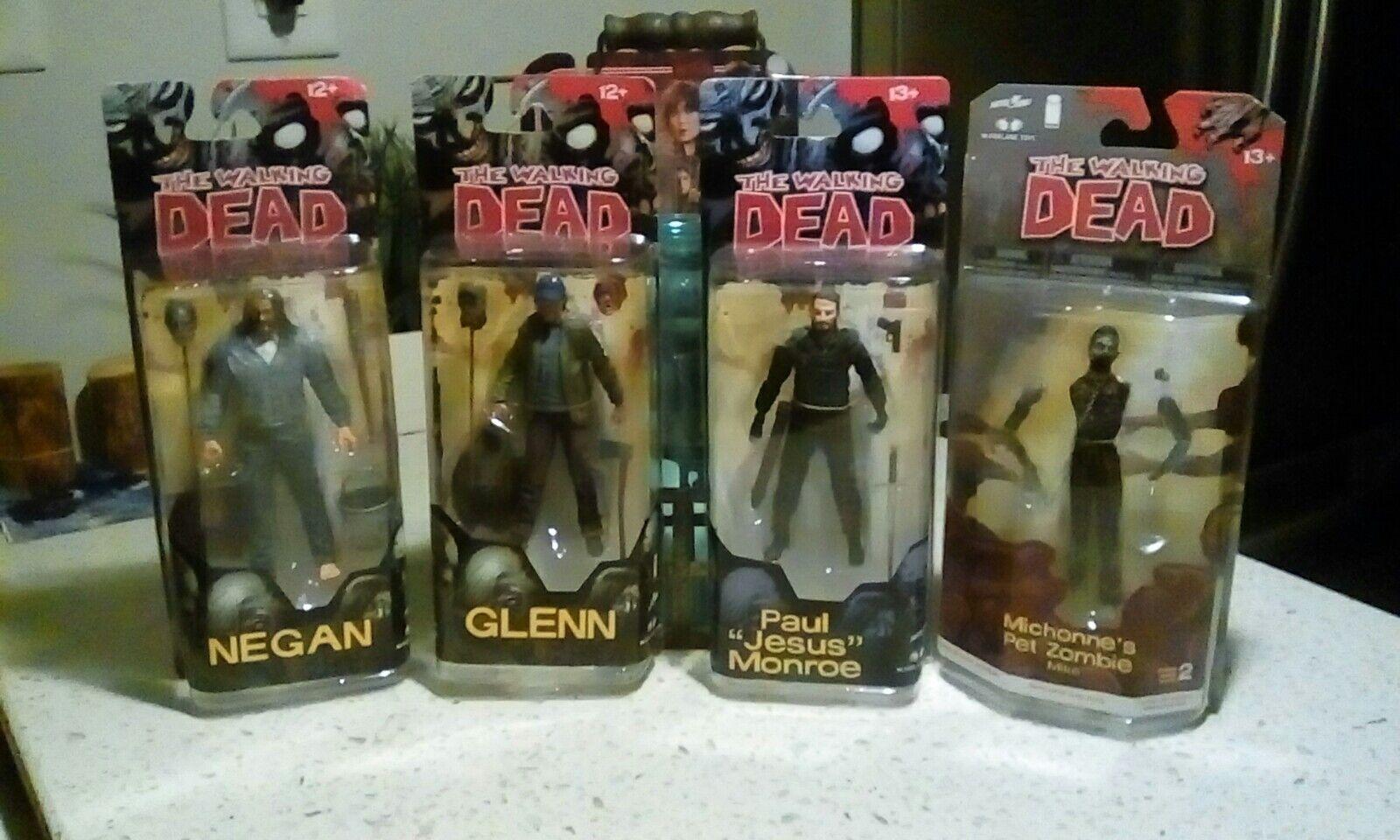 The Walking Dead 4 Figura Lot-serie 5, 4 & 2-Mcfarlane-Negan Glen Jesús