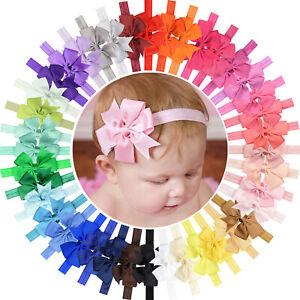 40pcs-3-Inch-Grosgrain-Ribbon-Hair-Bows-Headbands-for-Baby-Girls-Infants-Toddler