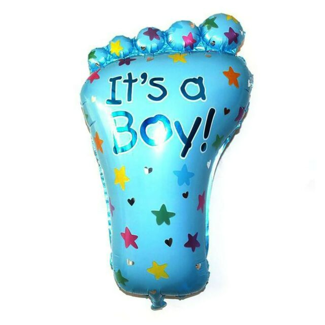 Blue Foot It/'s a Boy Baby Supershape Helium Balloon New Baby Shower Gifts