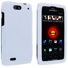 White Snap-on Hard Case Cover for Motorola Droid 4 Xt894