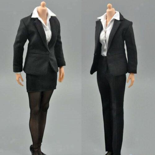 "1//6 Black Women/'s Trouser Business Office Suit for 12/"" Female Action Figure"