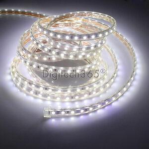 SMD3014-Luces-de-cinta-tira-LED-flexible-AC220V-60-LED-m-impermeable-Blanco