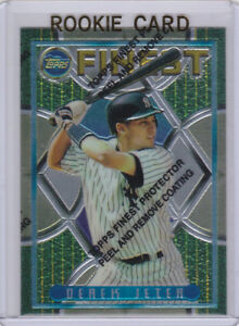 Details About Derek Jeter Topsp Finest Rc Baseball New York Yankees Rookie Card