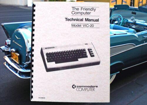 COMMODORE VIC-20 VIC 20 Computer TECHNICAL Service Manual With Schematics