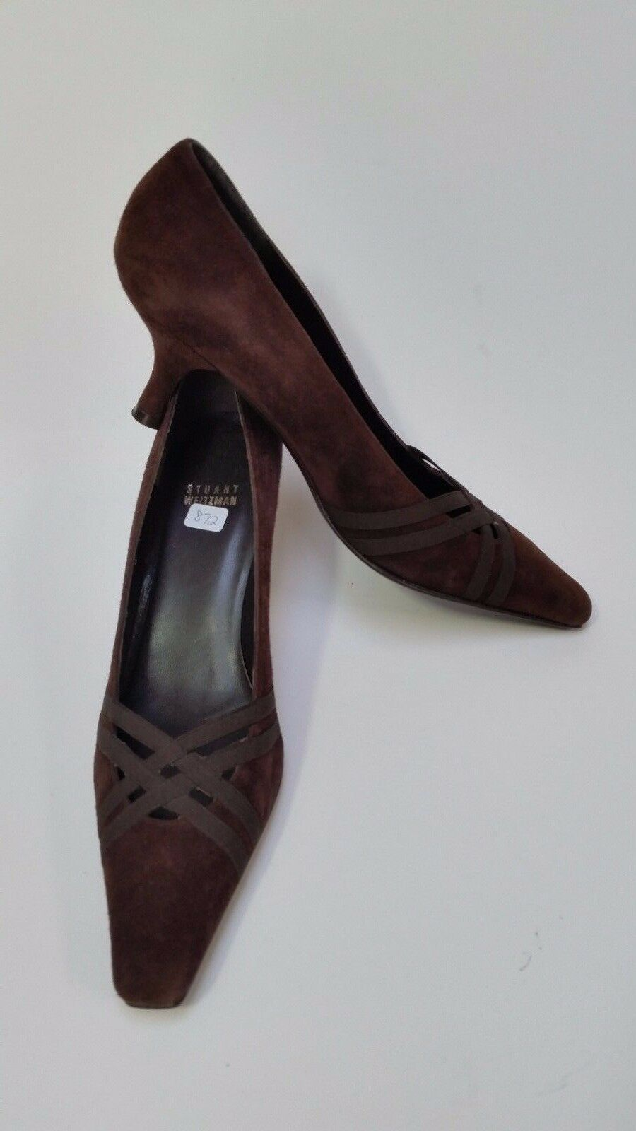 Stuart Weitzman shoes Heels Pumps Square Toe Low Heel Brown Womens Size 8 M
