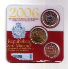 San Marino coincard 2006 5 cents, 50 cents, 1 euro