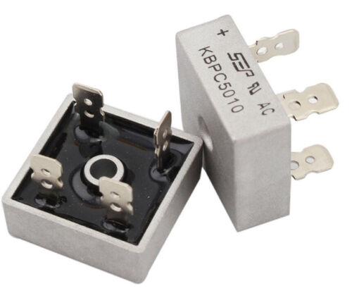UK Stock KBPC5010 Rectifier Bridge 1000V metal case package  50A
