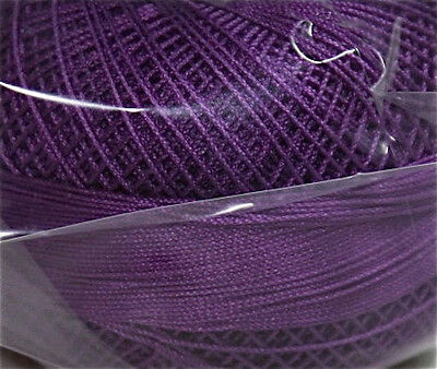 Lizbeth Cordonnet 100% Egyptian Cotton Thread Size 20 Color 647 Dark Purple Iris