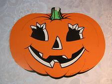 Vintage Halloween Beistle Diecut Cut out Decoration Jack Lantern