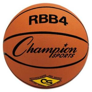 Champion Sports RBB4 Rubber Sports Ball, For Basketball, No