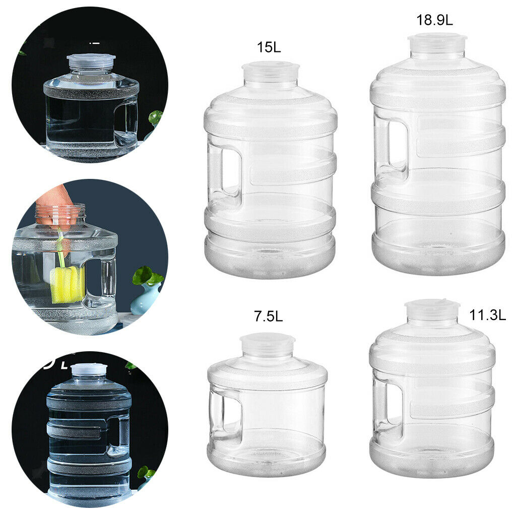Large Water Bottle Bucket Carrier Jug with Handle Big Mouth Camping Picnic