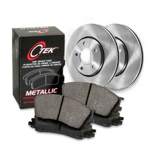 Centric Front Brake Rotor/&Metallic Pad 3PCS For 2002-2009 Renault Clio