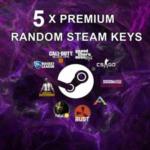 5 x Random PREMIUM Steam CD Keys (Guaranteed +£14.99 GAME) Games up to £40!