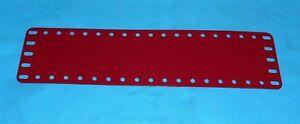 2019 DernièRe Conception Meccano Repro 1 Plaque/bande Flexible No196, Rouge