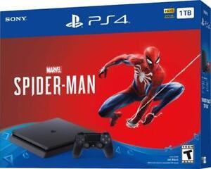 Marvel-s-Spider-Man-PS4-Sony-PlayStation-4-Slim-1TB-Jet-Black-Console