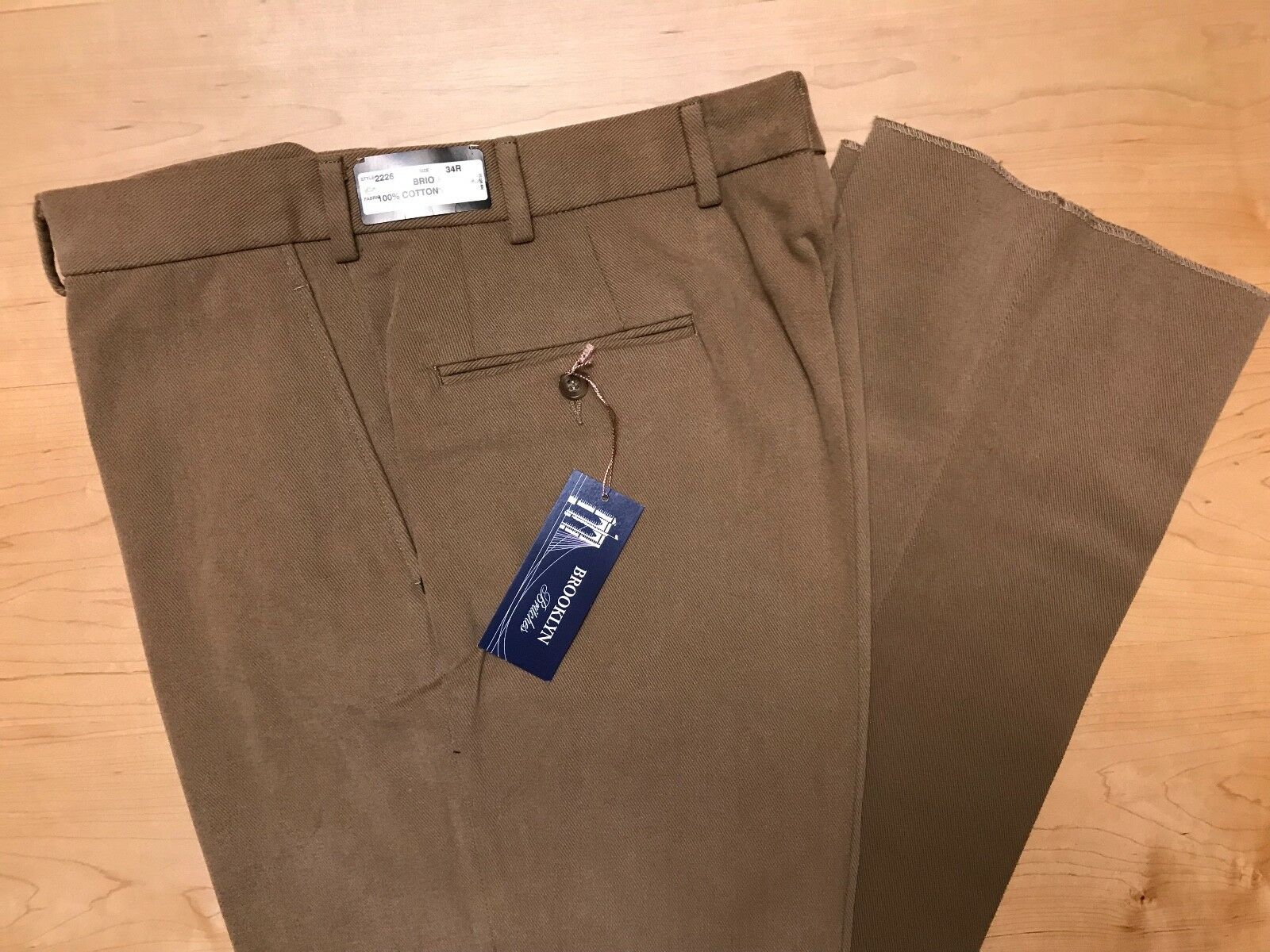 Hertling Trouser. 100% Cotton Twill   Brio fit   Size 34   2226. NEW.