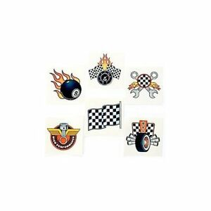 Race-Car-Temporary-Tattoos-Go-Kart-Party-Bag-Fillers-Pack-Sizes-6-36