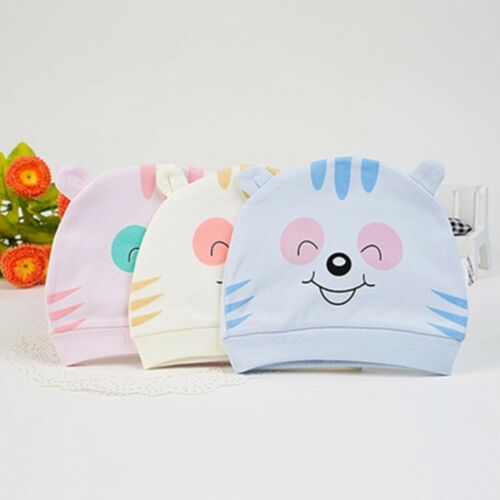 Newborn Baby Unisex Toddler Infant Boys Girls Beanie Hat Soft Cute Cap Cotton