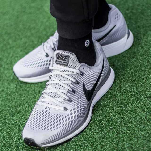 Nike Air Zoom Pegasus 34 880555 010 Größe 8 9 10 11 12 Herren nagelneu Schuhe grau
