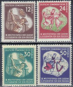 DDR-289-92-Weltfestspiele-einwandfrei-postfrisch