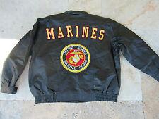 Army USMC US Marines Leather Jacket Marine Corps insignia Patch chaqueta de cuero XXL
