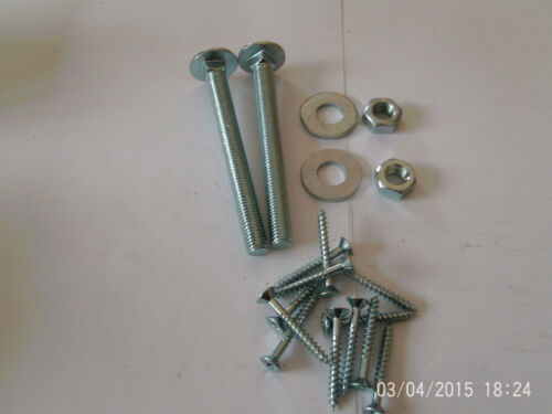 "hook and band ajustable hinges in galvanised 12/"" with all fixings free p/&p"