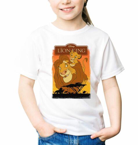 The Lion King Simba Children/'s Unisex White T-Shirt