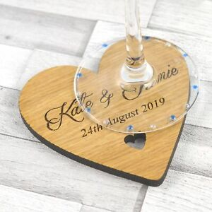Personalised-Heart-Shaped-Wedding-Table-Coasters-Rustic-Wooden-Favour-Placecards