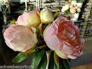 Rosa-Gebundener-Pfingstrosen-Kunstblume-Kuenstlicher-Strauss-Seidenblumen-Paeonia