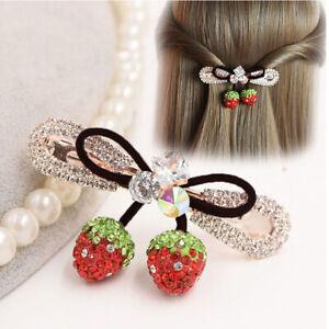 Fashion-Women-Strawberry-Rhinestone-Hair-Clip-Headband-Hairpin-Headwear-Gift