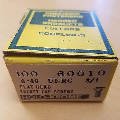 "100 new HOLO-KROME 72024 Allen #4-40 x 5//8/"" UNRC Hex Socket Head Cap Screws USA"