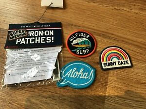 Tommy-Hilfiger-Patches-Iron-On-Patches-Neu-Original