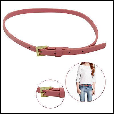 Bellissimo Donna Rosa Chiaro Sottile Cintura Metallo Fibbia Oro Pin Moda Donna Accessori Una Gamma Completa Di Specifiche