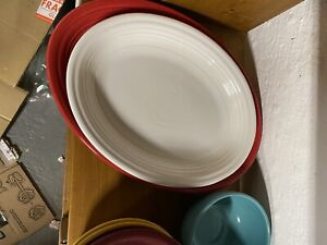 MEDIUM-HOMER-LAUGHLIN-WHITE-FIESTA-OVAL-SERVING-PLATTER-11-3-4-034-Heavy