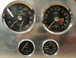 Jaeger-Full-Set-Speedo-amp-Tacho-Oil-amp-Temp-Fuel-Gauge-MGB-MG-Midget-Mk1-1961-64