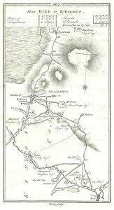 Antique-map-Road-from-Birr-to-Killenaule