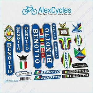 BENOTTO-Campagnolo-Restoration-Decals-Flags-Yellow-ST-Frame-Fork-Kit-Stickers