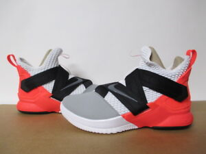 new style 0026a f9cc9 Details about NIKE LEBRON SOLDIER XII 12 SFG WHITE GREY FLASH CRIMSON BLACK  SZ 8-13