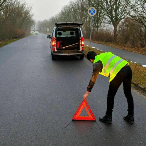 10 Stk Warnwesten Unfallweste Neon Gelb AUTO Warnweste Sicherheits Weste KFZ DHL