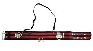 Army-Military-Issue-Climbing-Belt-Heavy-Duty-With-Metal-Loops-Harness-Strap