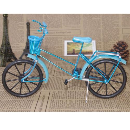 1:10 aluminium fahrrad modell fahrrad mit korb handwerk spielzeug hellblau