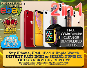 Details about INSTANT FAST iPhone iPad APPLE WATCH IMEI NETWORK CARRIER  ICLOUD CHECK SERVICE