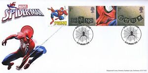 GB-2019-Spiderman-Smilers-50th-Anniversary-Special-Hand-Stamp-Cover