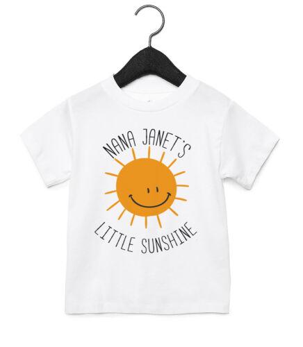 Nana Little Sunshine Personalizado Bebé Niño Niños Regalo Divertido Lindo T Shirt