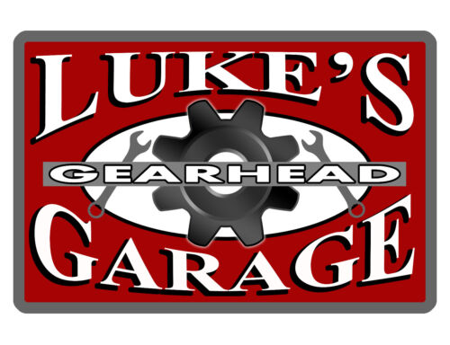 Personalized Garage GEARHEAD Sign Printed w YOUR NAME Aluminum Glossy Sign d#389